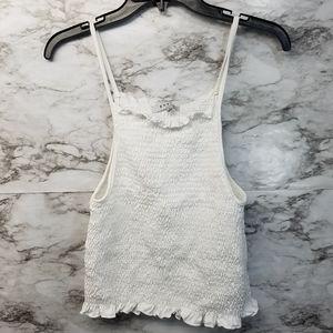 Gaze DTLA Women's Spaghetti Strap Top New White L